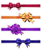 Colorful Ribbon with Bow Set — Stockfoto