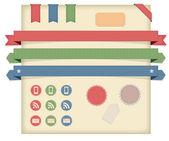 矢量标签,标签 & 色带,图标 — 图库照片