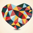 Origami polygonal heart. Vector Illustration. — Stock Vector