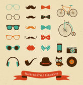 Hipster Retro Vintage Icon Set — Stock Vector