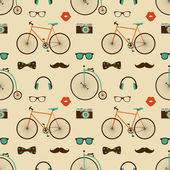 Hipster Colorful Seamless Pattern — Stock Vector