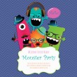 Monster Party Card Design. Vector Illustration — Stock Vector #36360087