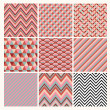 Seamless geometric hipster background set. — Vektorgrafik