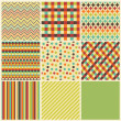 Seamless geometric hipster background set. — Imagen vectorial