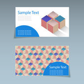 Business card geometric background. — ストックベクタ
