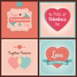 Happy Valentine's Day Card Set — Stock Vector