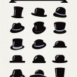 Hipster Retro Hats Vintage Icon Set — Stock Vector #37933113