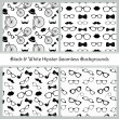 Hipster Black and White Seamless Patterns — Stock Vector #40100893