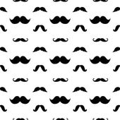 Hipster Mustaches Vector Seamless Pattern — Stock Vector