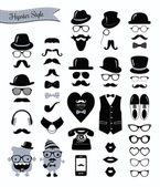 Hipster retro Vintage Icon-set — Stockvektor