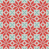 Seamless Ornamental knitting pattern — Stockvector
