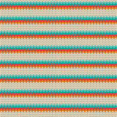 Seamless Striped knitting pattern — Stockvector