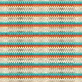 Seamless Striped knitting pattern — Wektor stockowy
