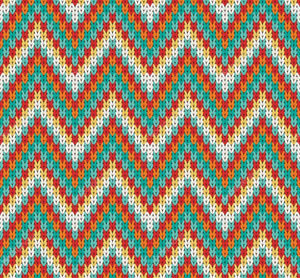 Tutorial Zigzag Knitting : Modele tricot zig zag