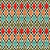 Seamless Rhombus knitting pattern — Wektor stockowy