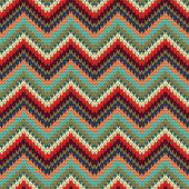 Seamless Zigzag knitting pattern — Stockvector