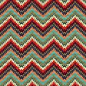 Seamless Zigzag knitting pattern — Wektor stockowy