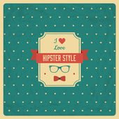 Vintage Background with Hipster Label — Vector de stock