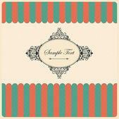 Vintage Background with Frame — Stock Vector
