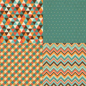 Vintage Geometric Background Pattern Set — Stock Vector