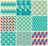 Vector Geometric Background Pattern Set — Stock Vector