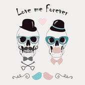 Love Me Forever Funny Vector Illustration — Stock Vector