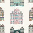 Old Styled Houses Seamless Pattern — Stock Vector #49481803