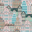 Old Styled Houses Seamless Pattern — Stock Vector #49482403