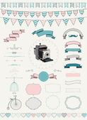 Vector Collection of  Banners, Ribbons and Frames — Stock Vector