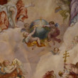 Vienna, Austria: Ceiling frescoes by Johann Michael Rottmayr in the Karlskirche in Vienna on August 27, 2013. — Stock Photo #44054375