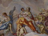 Vienna, Austria: Ceiling frescoes by Johann Michael Rottmayr in the Karlskirche in Vienna on August 27, 2013. — Foto Stock