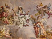 Vienna, Austria: Ceiling frescoes by Johann Michael Rottmayr in the Karlskirche in Vienna on August 27, 2013. — Стоковое фото