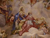 Vienna, Austria: Ceiling frescoes by Johann Michael Rottmayr in the Karlskirche in Vienna on August 27, 2013. — Photo