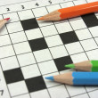 Crossword. Back to school — Stock Photo