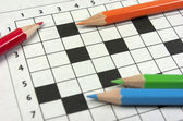 Crossword. Back to school — Stock Photo