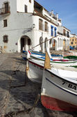 Boats. Calella de Palafrugell. Spain. — Stock Photo