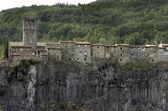 Village Castellfollit de la Roca in Catalonia — Stock Photo
