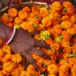 Flower market. Kolkata. India — Stock Photo