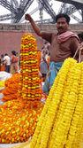 Flower market. Kolkata. India — Stock Photo