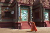 Buddhist monk. Wat Hanchey. Cambodia — Stock Photo