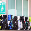 Places to drop golf bags — Stock Photo