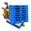 Стоковое фото: Forklift Truck with Pallet - include path