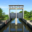 Sluice gates to control the water level — Stock Photo #32028853