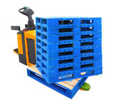 Forklift Truck with a Pallet - include path — ストック写真