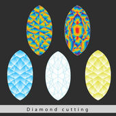 A diamond cut is a style or design guide — Stock Vector
