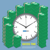 Success time to rich — Stock Vector