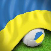 Soccer ball and flag euro ukraine — Stock Photo