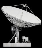 Large satellite dish parabolic antenna designed for transatlanti — Stock Photo