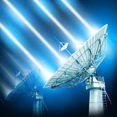 Large satellite dish designed for transatlantic communication on — Stock Photo