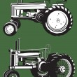 Stock Vector: Antique Tractors